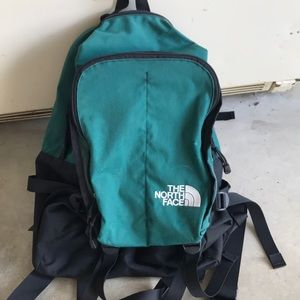 Vintage the north face backpack green